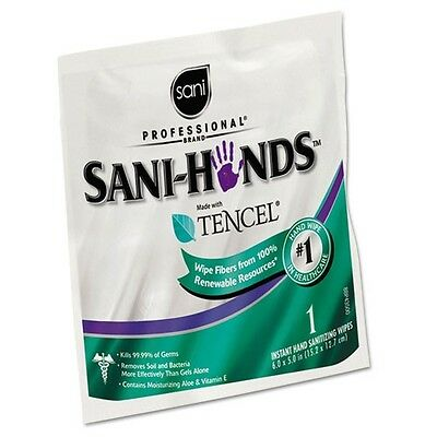 Sani Professional Sani-Hands Sanitizing Wipes with Tencel - D33333