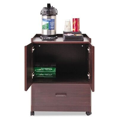 Vertiflex Mobile Deluxe Coffee Bar with 2-Door Cabinet & Drawer - 50119