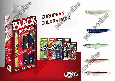 BLACK MINNOW EUROPEAN COLORS PACK Set 5 combo Black Minnow BM652 LIMITED EDITION