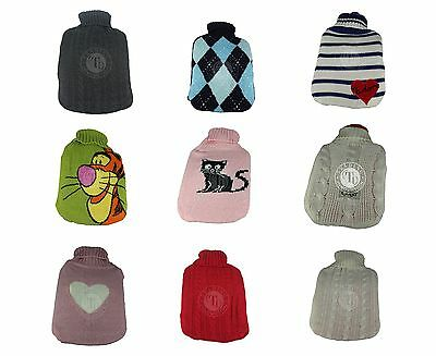 2L Large Hot Water Bottle With Removable Fleece Cover Soft Warm Winter Gift New