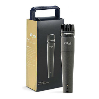 Stagg SDM70 Dynamic Microphone for Instruments, Includes 5m XLR Cable & Carry Ca