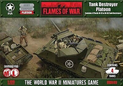 Flames Of War (WWII): (USA) M10/M36 Tank Destroyer Platoon (4) BFMUBX49