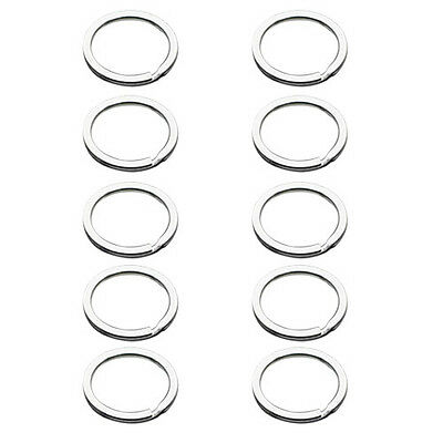 10pcs Metal Key Holder Split Rings Keyring Keychain Keyfob Accessories New ZH