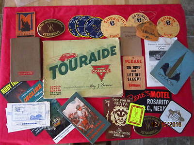 Touraide by Conoco Continental Oil Co 1937c/with add'l. books,souveniers,paper