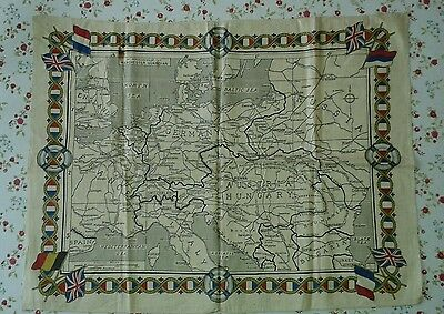Map of Europe Hankercheif - Manchester Guardian c1900's
