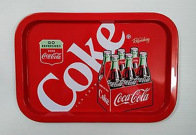 Coca-Cola 6-Pack Bottle Tin Tray - BRAND NEW