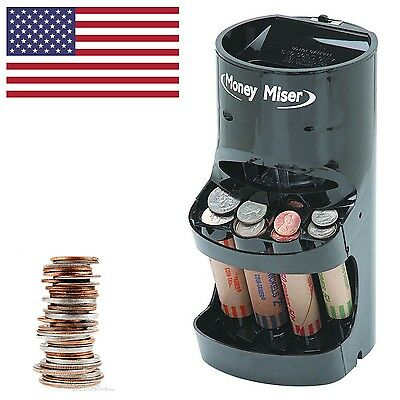 Coin Sorter Quality Change Machine Counter Motorized Money Roller Bank Wrapper