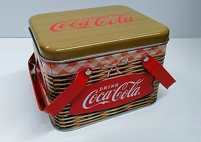 Coca-Cola Picnic Basket Tin Box - BRAND NEW