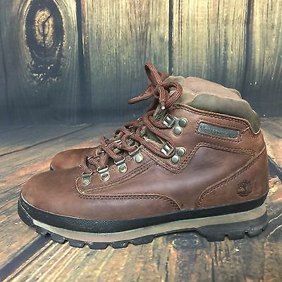 Vintage Womens 9.5 M Timberland Hiking Brown Boots Outdoor Camping  95310
