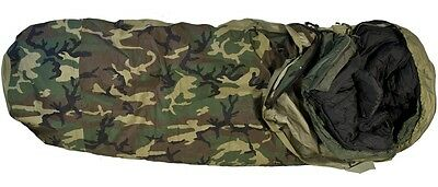 US Army Military MSS Goretex Sleeping bag System Schlafsack Woodland camouflage
