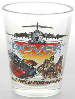 Delaware  souvenirs Shot Glass - Dover,DE Need for Speed