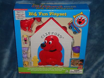 Clifford The Big Red Dog Big Fun Playset RARE OoP TOY NEW Scholastic