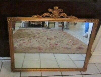 vintage hollywood regency mirror french style wood