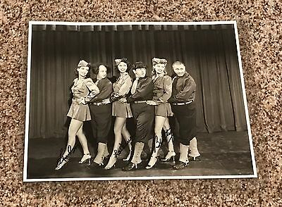 Three 3 Stooges Gents Without Cents SIGNED Photo Lindsay, LaVerne & Betty Nice!