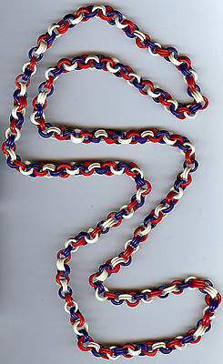 Vintage Red White And Blue Celluloid Chain Link Necklace
