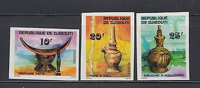 Djibouti 1977 Water Pipes Sc 459-461 IMPERF Mint Never Hinged