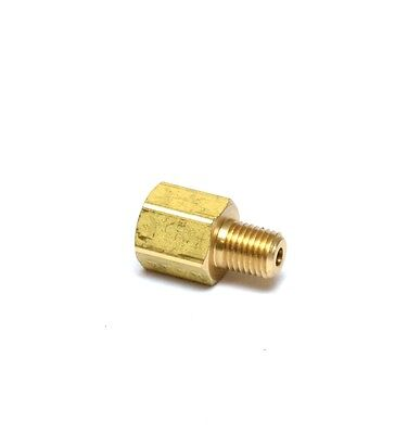 "Reducer Pipe Adapter Brass 1/8"" Female NPT to 1/16"" Male NPT Water Air Gas Fuel"