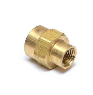 "Female Pipe Reducer 1/2"" to 1/4"" NPT Adapter Coupler Brass Fitting Water Oil Gas"