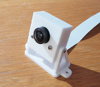 Raspberry Pi Wide Angle Camera Case  Enclosure Tilting  in Acrylic