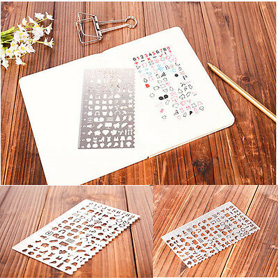 Korean Cutout Metal Rule Drawing Stencils DIY Decorative Graffiti Stencils Ruler