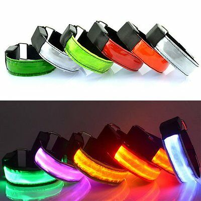 Sports Cycling Running LED Safety Reflective Belt Strap Arm Band Armband Optimal