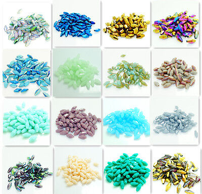 72PCS Facet Bicone Crystal Glass jade Loose Spacer Bead 4*8mm 60 color