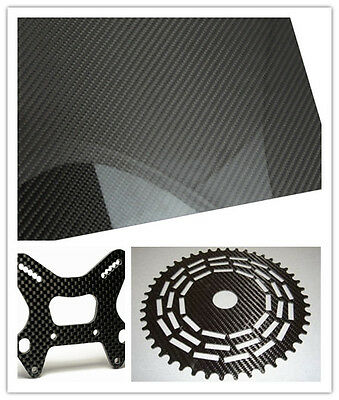 400*500*0.5mm 3K Twill carbon fiber sheet plate panel glossy or mattee