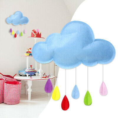 Cute Wall Decor Cloud Raindrop Shape for Nursery Room Photographic Studio Gift
