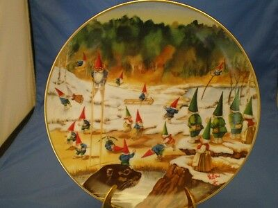 Secrets Of Gnomes Porcelain Collector Plate Gnomatic Fitness Rien Poortvliet