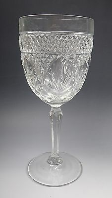 Cris D'Arques/Durand Crystal ANTIQUE-CLEAR (6 Sided Stem) Water Goblet(s) EX.
