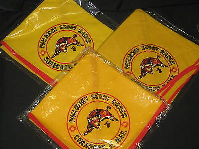 Philmont Neckerchiefs, Lot of 3 different background Color Variations,   eb02