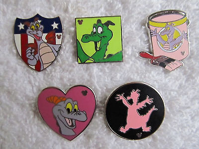 5 FIGMENT Disney HIdden Mickey Trader Pins   used