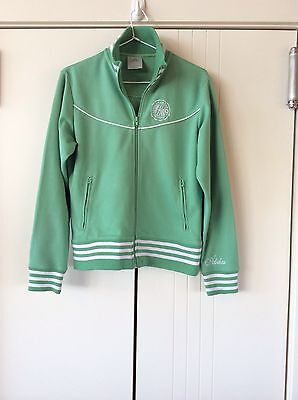Womens Unisex Green Vintage Look Adidas Track Top Size 12