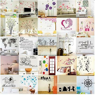 Removable Vinyl Art Quote Wall Decal Stickers Bedroom Mural DIY Home Room Decor
