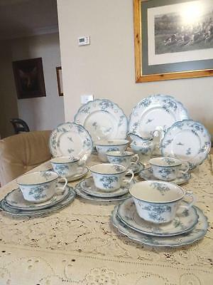 ANTIQUE 1902 to 1908  EDWARDIAN GRINDLEY LINCOLN 22 PC  teal colour