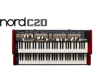 Nord C2D Dual 61 Manual Combo Organ.. Free Factory Case,  Volume Pedal, Shipping