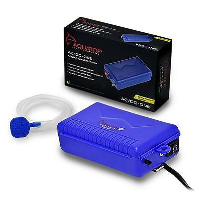 Aquatop Ac/dc One Battery Backup Air Pump For Saltwater Freshwater Aquariums