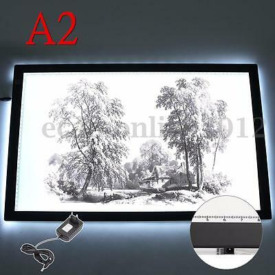 A2 Dimmable Thin LED Art Stencil Tracing Drawing Board Lightbox Pad Touch Sensor