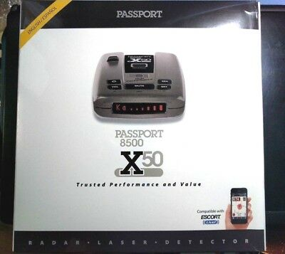 Escort Passport 8500X50 Black Radar & Laser Detector, Red Display 80-000085-14