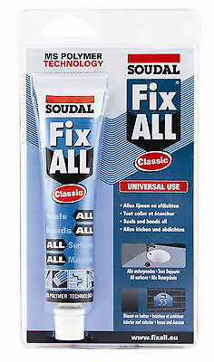 Soudal All Fix Classic Universal Sealant Glue Mastic Adhesive Rubber Montagefix