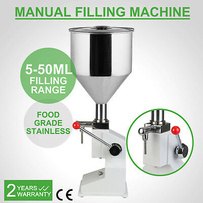 Manual machine remplissage Filling 5-50ML Stainless Pneumatic No-Drip Option