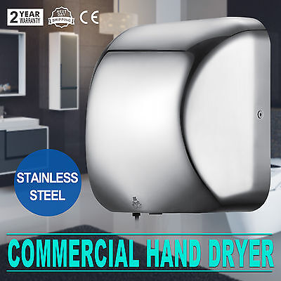 Automatic Electric Hand Dryer 1200W High Speed Stainless Steel Restroom Hot
