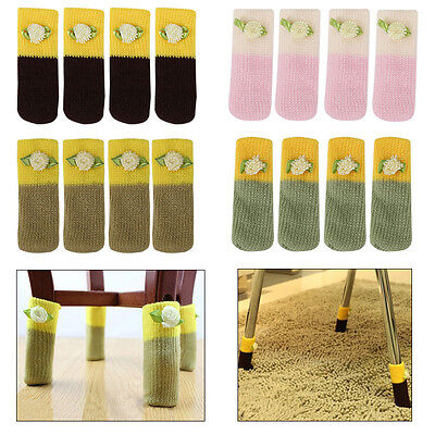 4/12pcs New Knit Table Chair Furniture Feet Leg Pads Sock Floor Protectors Cover