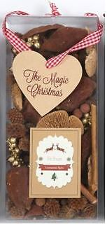 Cinnamon Spice Xmas Fragrance Scented Pot Pourri Decoration Gift Box Heart Tag
