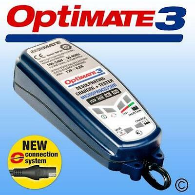 Latest Optimate 3 Motorcycle Charger Recommended By Most Major Manufacturers