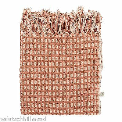 Dutch Decor Plaid Magatha Throw Blanket in Copper - 130x180cm