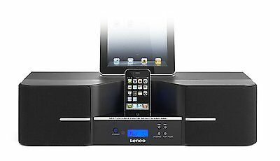 Lenco IPD-1003 80W Speaker Docking Station 3D Sound Bluetooth Connector 30 Pin