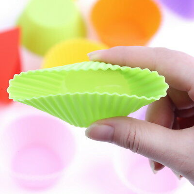 12 x Silicone Cake Muffin Chocolate Cupcake Liner Baking Cup Cookie Mold