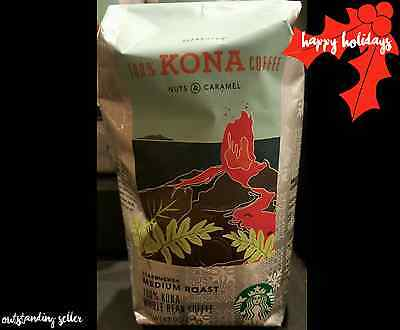New Starbucks 100% Kona Whole Bean Coffee Medium Roast 8.8 oz FREE SHIPPING