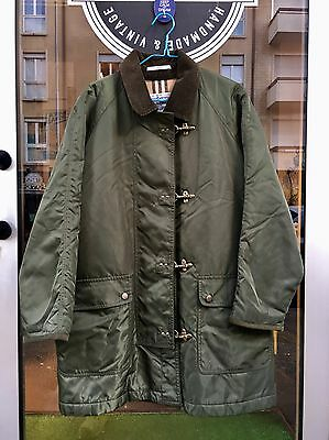 Giacca Burberry Donna TG 42 Cappotto Impermeabile Verde Vintage